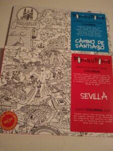 mapas de santiago y sevilla