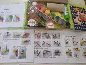 caja crafty con material