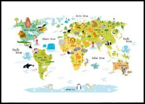 mapamundi animales