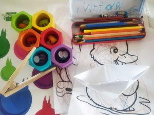 colores, barco y papel