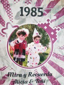 dos niñas en el año 1985