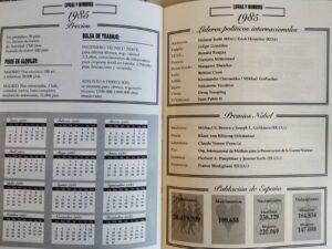 calendario año 1985