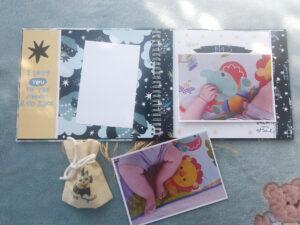 libro primer año con fotos y bolsita