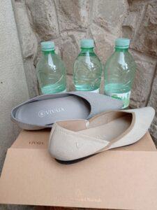 zapatillas VIVAIA con botellas de plástico